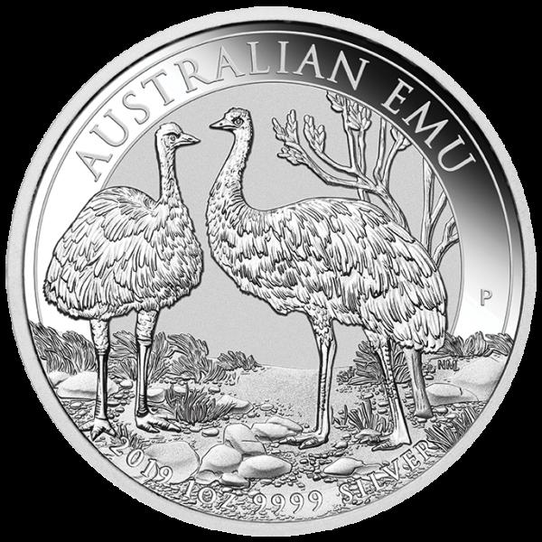 Ankauf: Australian Emu 2019, Silbermünze 1 Unze (oz)