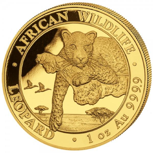 Ankauf: Somalia Leopard 2020, Goldmünze 1 Unze (oz)