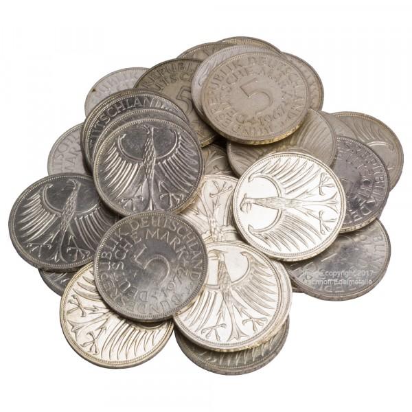 """Ankauf: 5 DM """"Silberadler"""", Silbermünze 7g fein, diverse Jahrgänge"""