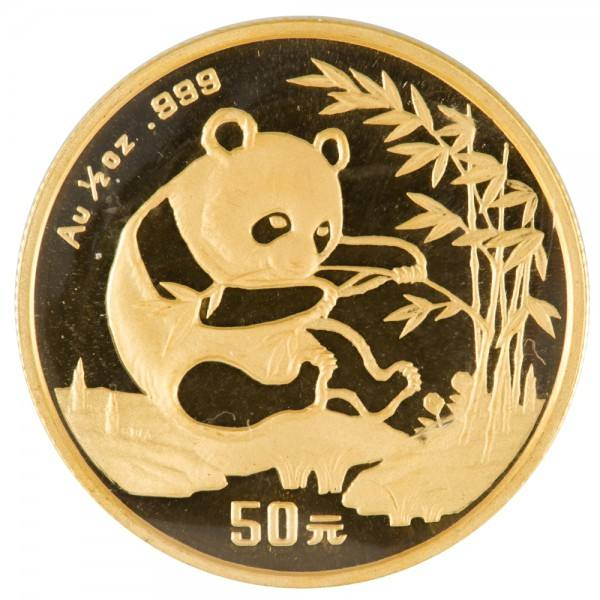 Ankauf: China Panda 1994, Goldmünze 1/2 Unze (oz)