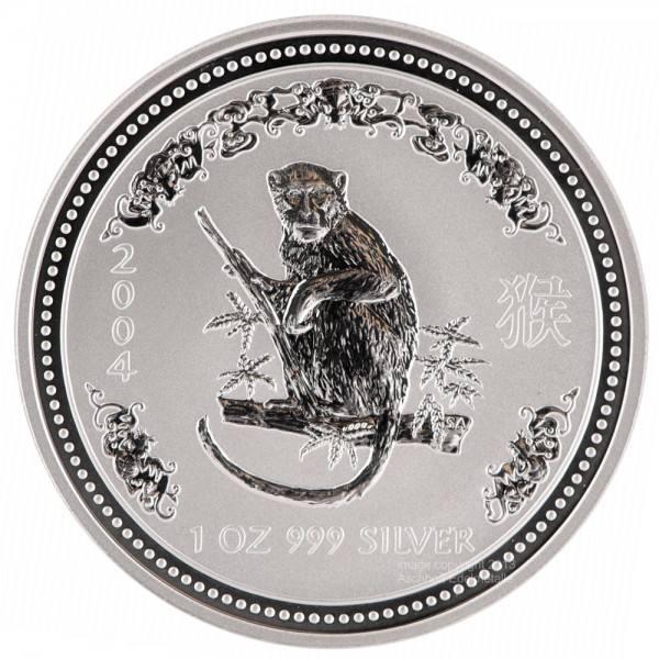 Lunar I 2004 Affe, Silbermünze 1 Unze (oz)