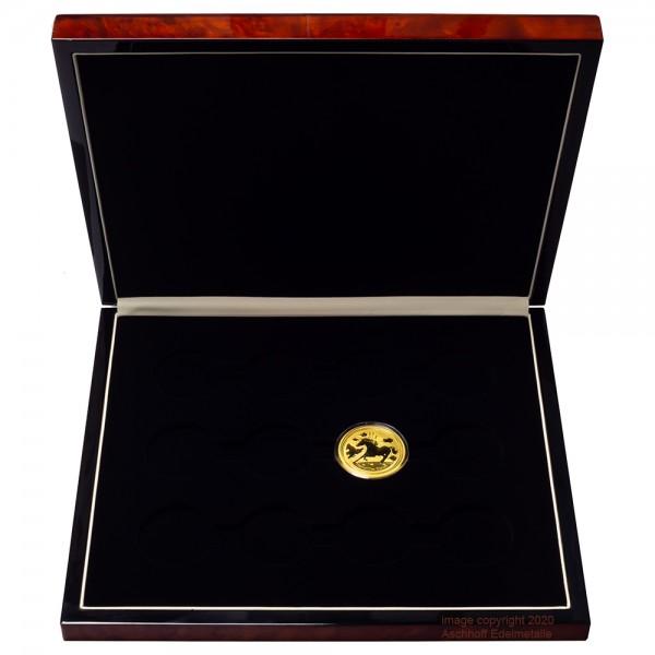 Edle Münzbox für 12 x 1oz Gold Lunar II