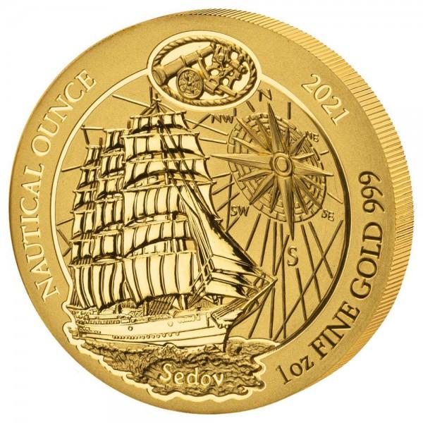 Ankauf: Ruanda Nautical Ounce 2021 Sedov, Goldmünze 1 Unze (oz)