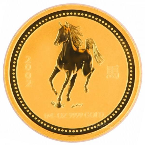 Ankauf: Lunar I 2002 Pferd, Goldmünze 1/4 Unze (oz)