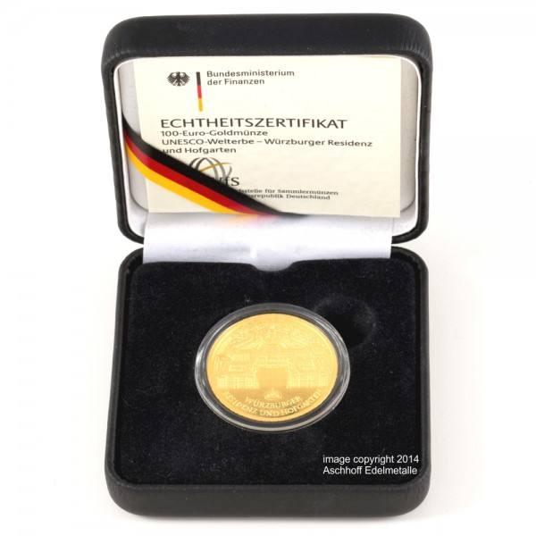 "Goldeuro 2010 ""Würzburg"" Goldmünze 1/2 Unze (oz)"