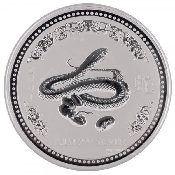 Ankauf: Lunar I 2001 Schlange, Silbermünze 1 kg