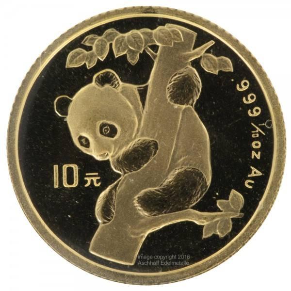 Ankauf: China Panda 1996, Goldmünze 1/10 Unze (oz)