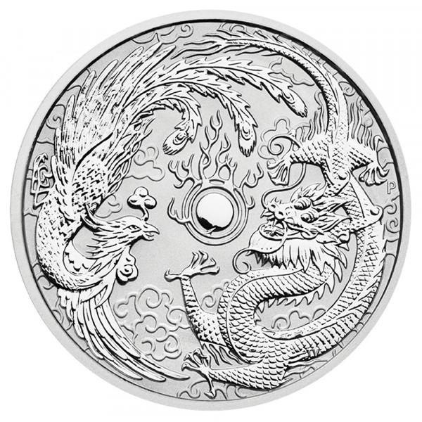 Ankauf: Dragon & Phoenix 2017, Silbermünze 1 Unze (oz)
