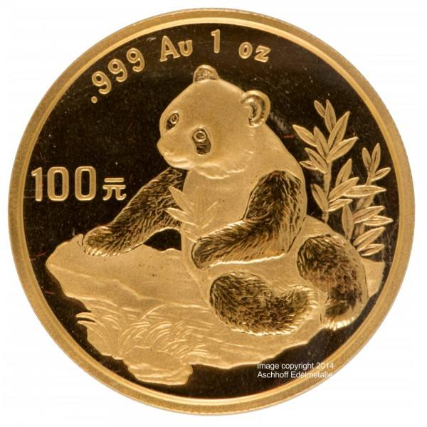 Ankauf: China Panda 1998, Goldmünze 1 Unze (oz)
