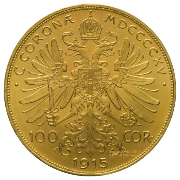 Ankauf: Österreich 100 Kronen, Goldmünze 30,49g fein, diverse Jahrgänge