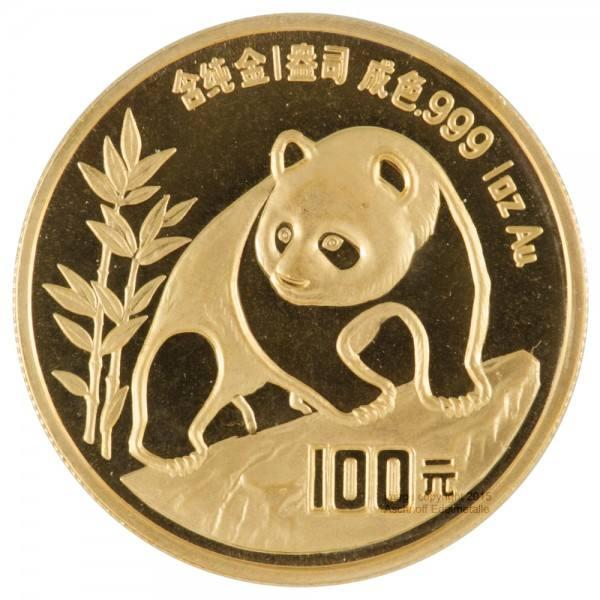 Ankauf: China Panda 1990, Goldmünze 1 Unze (oz)
