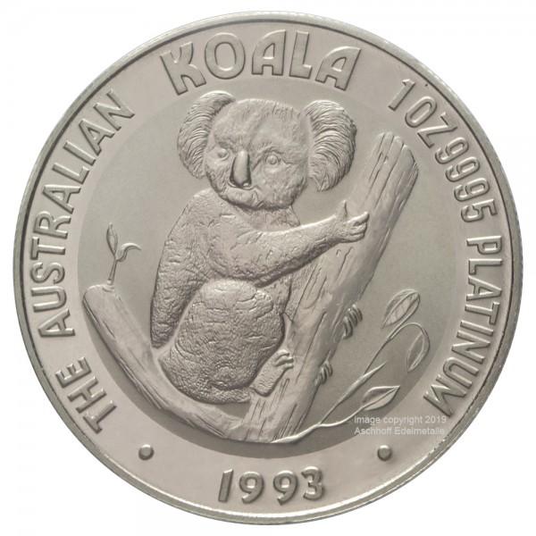 Australian Koala 1993, Platinmünze 1 Unze (oz)