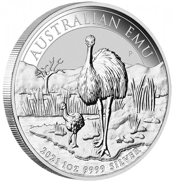 Australian Emu 2021, Silbermünze 1 Unze (oz)