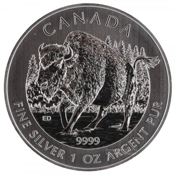 Ankauf: Canadian Wildlife 2013 Bison, Silbermünze 1 Unze (oz)