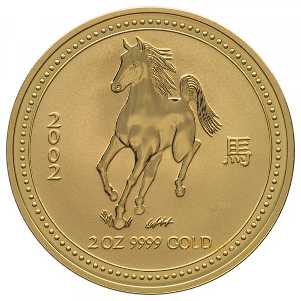 Lunar I 2002 Pferd, Goldmünze 2 Unzen (oz)