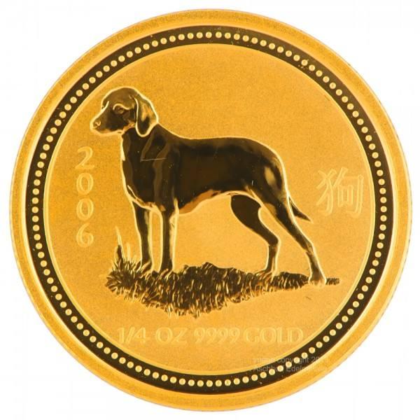 Ankauf: Lunar I 2006 Hund, Goldmünze 1/4 Unze (oz)