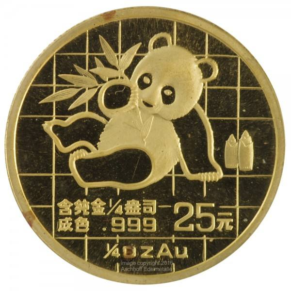 China Panda 1989, Goldmünze 1/4 Unze (oz)