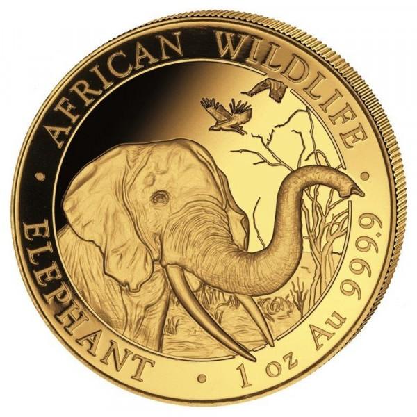 Ankauf: Somalia Elephant 2018, Goldmünze 1 Unze (oz)