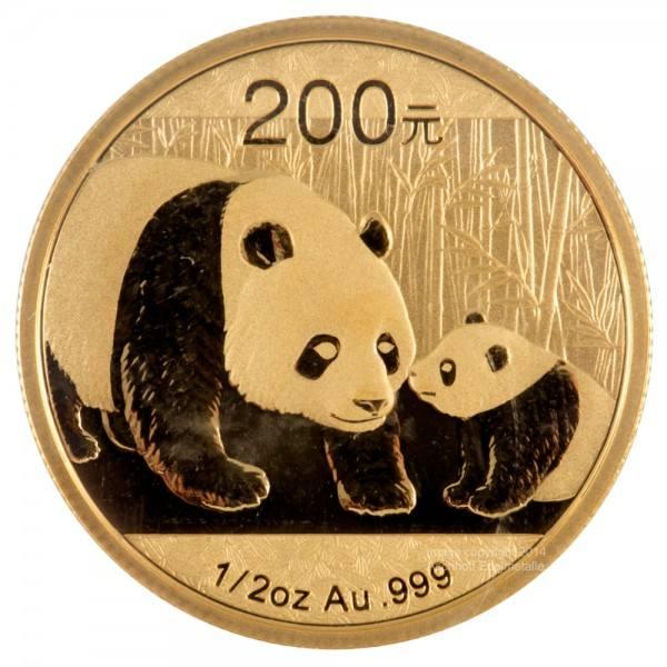 Ankauf: China Panda 2011, Goldmünze 1/2 Unze (oz)
