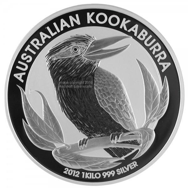 Ankauf: Australian Kookaburra, Silbermünze 1 Kilo (kg), diverse Jahrgänge