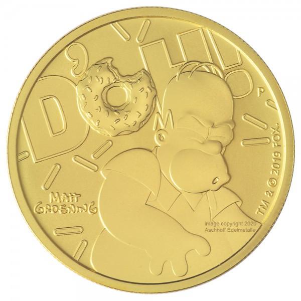 Homer Simpson 2020, Goldmünze 1 Unze (oz)