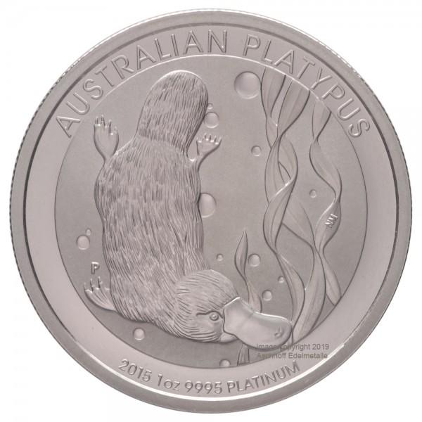 Australian Platypus, Platinmünze 1 Unze (oz), diverse Jahrgänge