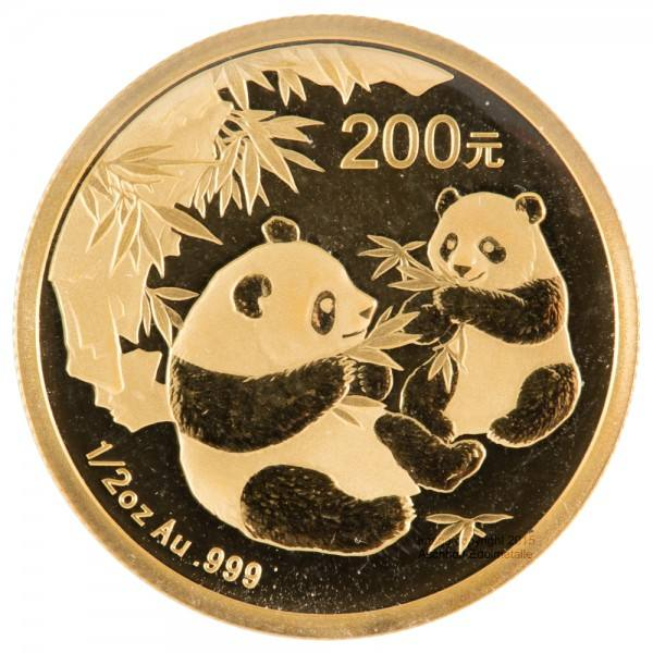 Ankauf: China Panda 2006, Goldmünze 1/2 Unze (oz)