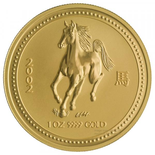 Lunar I 2002 Pferd, Goldmünze 1 Unze (oz)