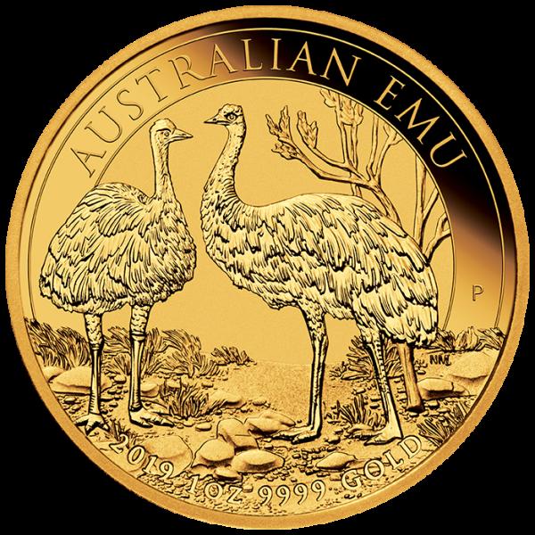 Ankauf: Australian Emu 2019, Goldmünze 1 Unze (oz)