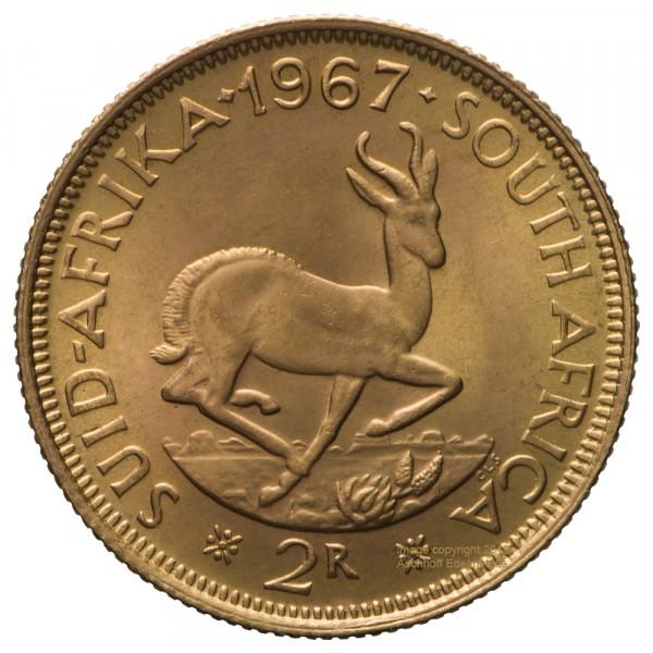 Ankauf: Südafrika 2 Rand, Goldmünze 7,32g fein, diverse Jahrgänge
