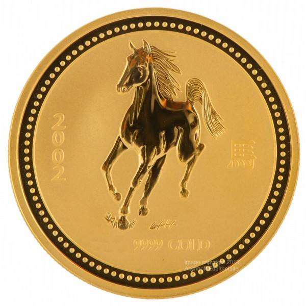 Ankauf: Lunar I 2002 Pferd, Goldmünze 10 Unzen (oz)