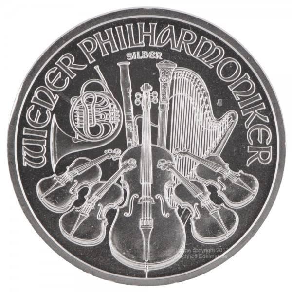 Ankauf: Wiener Philharmoniker, Silbermünze 1 Unze (oz), diverse Jahrgänge