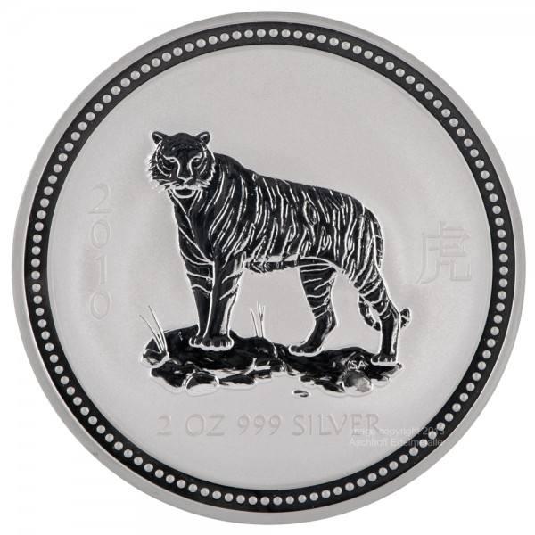 Ankauf: Lunar I 2010 Tiger, Silbermünze 2 Unzen (oz)