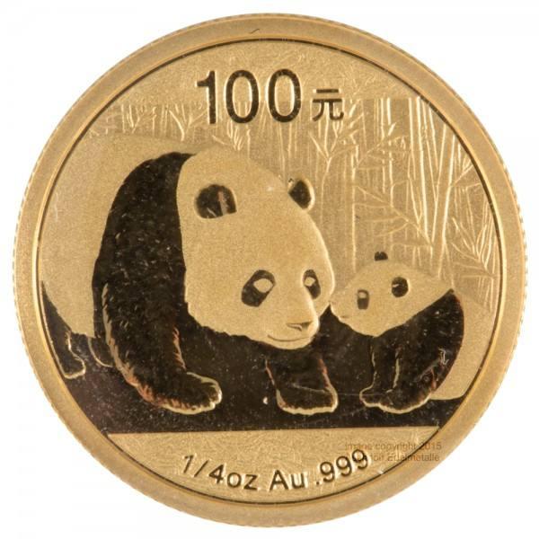 China Panda 2011, Goldmünze 1/4 Unze (oz) Original-Folie