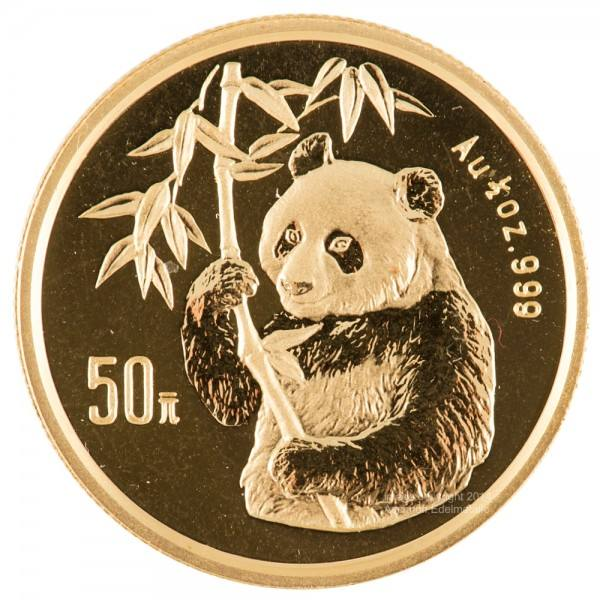 Ankauf: China Panda 1995, Goldmünze 1/2 Unze (oz)
