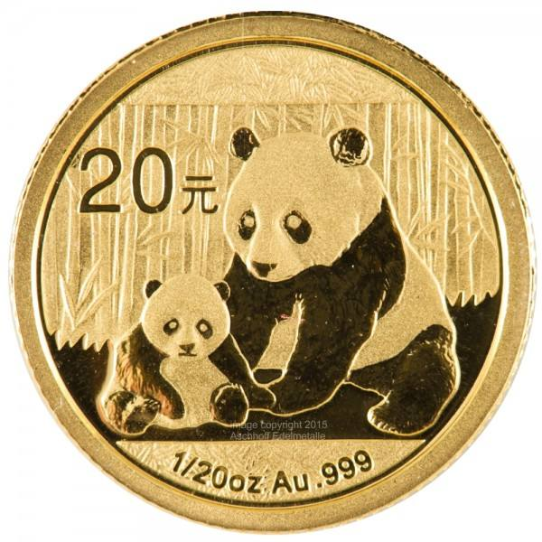 Ankauf: China Panda 2012, Goldmünze 1/20 Unze (oz)