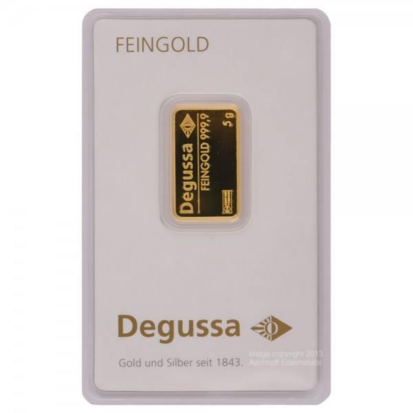 Goldbarren 5g Degussa
