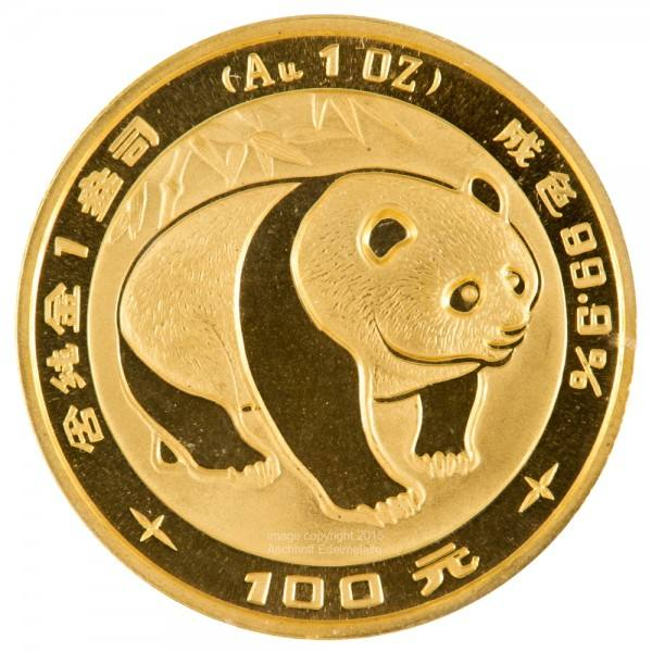 Ankauf: China Panda 1983, Goldmünze 1 Unze (oz)