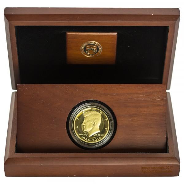 Half Dollar Kennedy 1964 2014 50th Anniversary Goldmünze 075