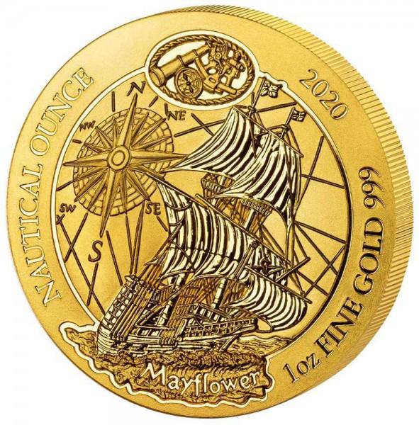 Ankauf: Ruanda Nautical Ounce 2020 Mayflower, Goldmünze 1 Unze (oz)