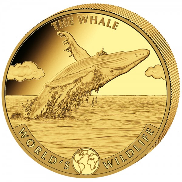 Ankauf: Worlds Wildlife Kongo 2020 The Whale, Goldmünze 1 Unze (oz)