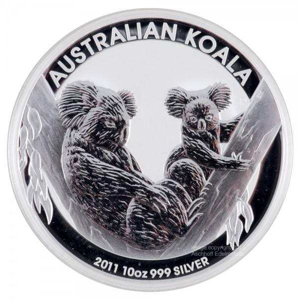 Ankauf: Australian Koala 2011, Silbermünze 10 Unzen (oz)