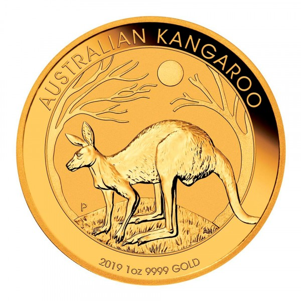 Ankauf: Australian Kangaroo (Nugget) 2019, Goldmünze 1 Unze (oz)