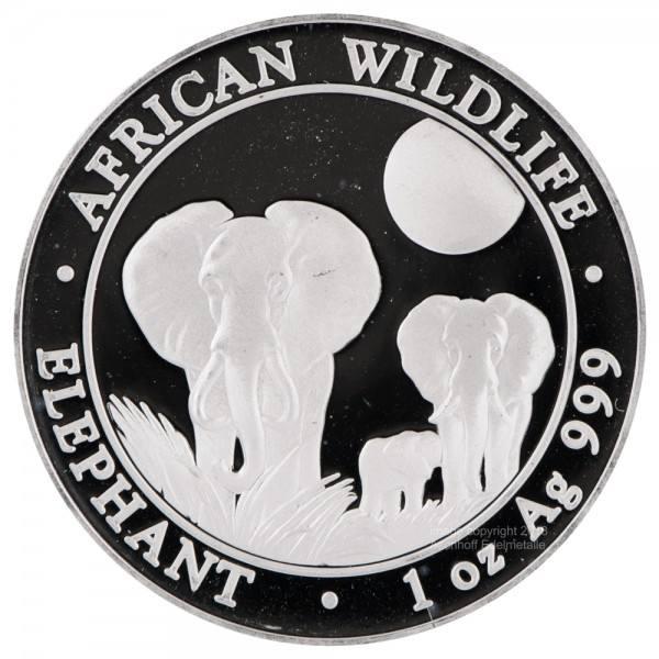 Ankauf: Somalia Elephant 2014, Silbermünze 1 Unze (oz)