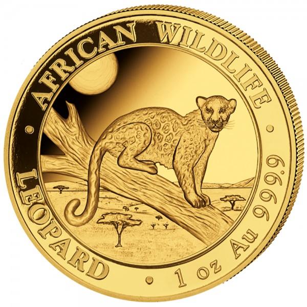 Somalia Leopard 2021, Goldmünze 1 Unze (oz)