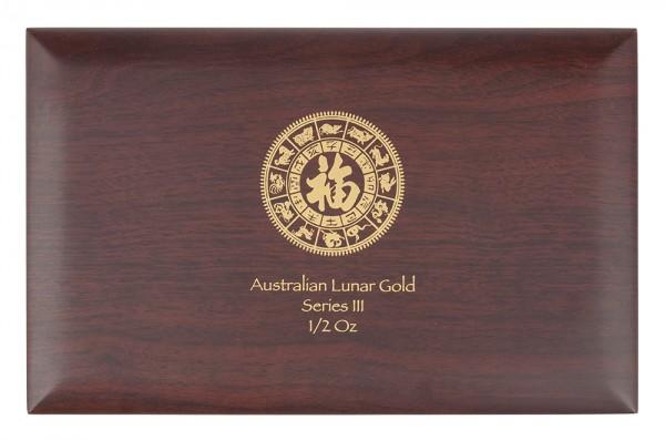 Münzbox für Lunar III Serie 12 x 1/2 Unze (oz) Goldmünzen