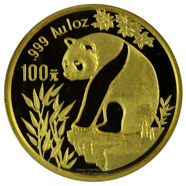 Ankauf: China Panda 1993, Goldmünze 1 Unze (oz)