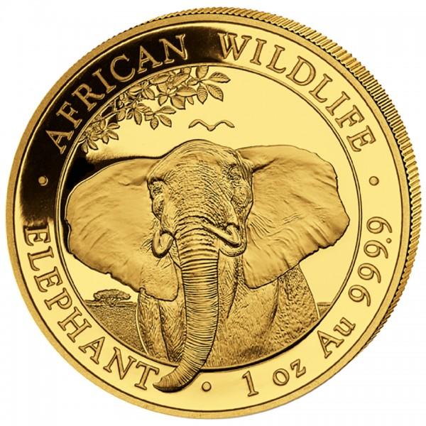 Ankauf: Somalia Elephant 2021, Goldmünze 1 Unze (oz)
