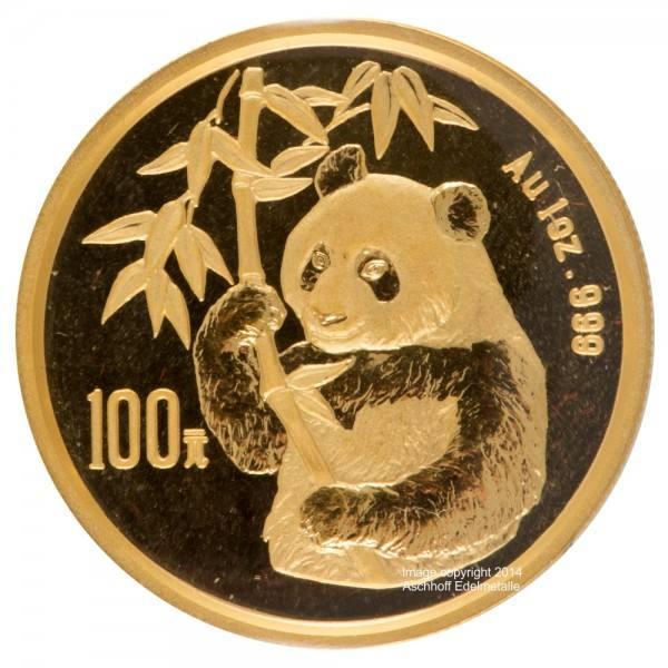 Ankauf: China Panda 1995, Goldmünze 1 Unze (oz)