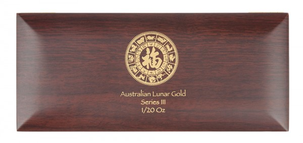 Münzbox für Lunar III Serie 12 x 1/20 Unze (oz) Goldmünzen